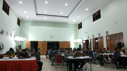 PPS Desa Bangunjiwo lantik Anggota KPPS Bangunjiwo pada Pemilu 2019