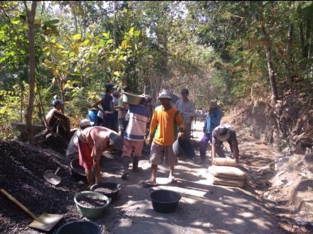 Padat Karya Infrastruktur berdayakan masyarakat Kenalan Bangunjiwo