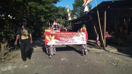 Peringati HUT RI ke-74, Pedukuhan Tirto Desa Bangunjiwo  Gelar Karnaval Besar-besaran.