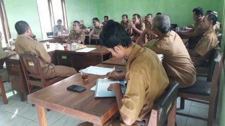 Rakor Pemerintahan Desa Bangunjiwo bahas disiplin aparatur desa