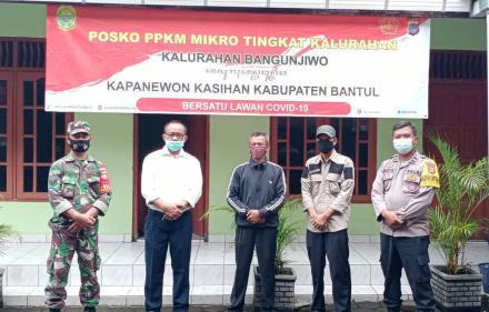 Pemberlakuan Pembatasan Kegiatan Masyarakat Berbasis Mikro di Kabupaten Bantul