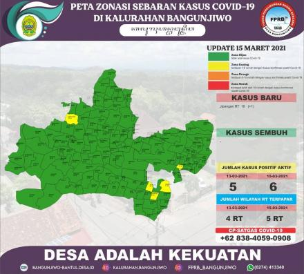 Update Peta Zonasi Sebaran Covid19 15 Maret 2021