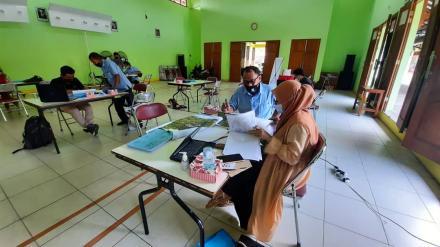Pelaksanaan FGD 2 Pemetaan Potensi Wilayah Kalurahan Bangunjiwo Tahun 2021.