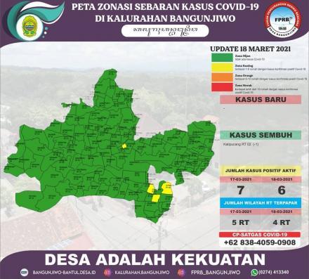 Update Peta Zonasi Sebaran Covid19 18 Maret 2021