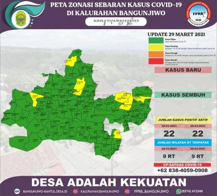 Update Peta Zonasi Sebaran Covid19 30 Maret 2021