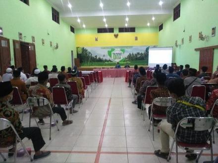 kegiatan Sosialisasi dan Bimtek bagi Pokja Relawan Pendataan SDGs Kalurahan Bangunjiwo
