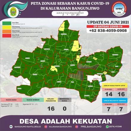 Update Peta Zonasi Sebaran Covid19 pertanggal 4 Juni 2021