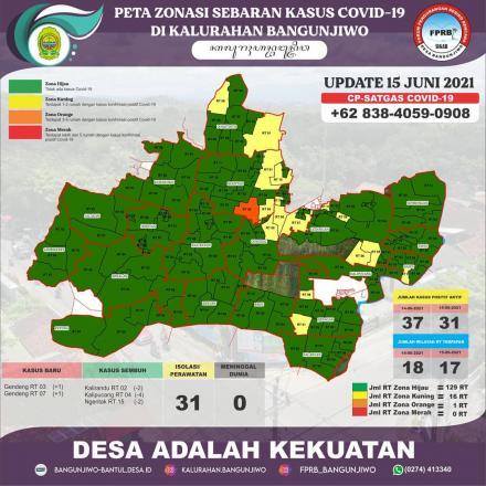 Update Peta Zonasi Sebaran Covid19 15 Juni 2021