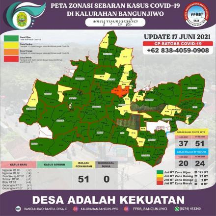 pdate Peta Zonasi Sebaran Covid19 17 Juni 2021