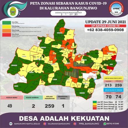 Update Peta Zonasi Sebaran Covid19 Tanggal 29 Juni 2021