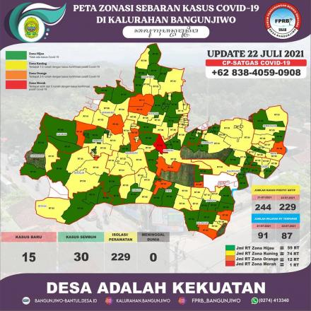 Update Peta Zonasi Sebaran Covid19 22 Juli 2021