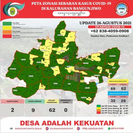 Update Peta Zonasi Sebaran Covid19  Tanggal 26 Agustus 2021