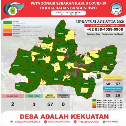 Update Peta Zonasi Sebaran Covid19 tanggal 31 Agustus 2021