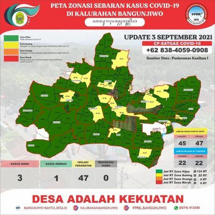 Update Peta Zonasi Sebaran Covid19 tanggal 03 September 2021