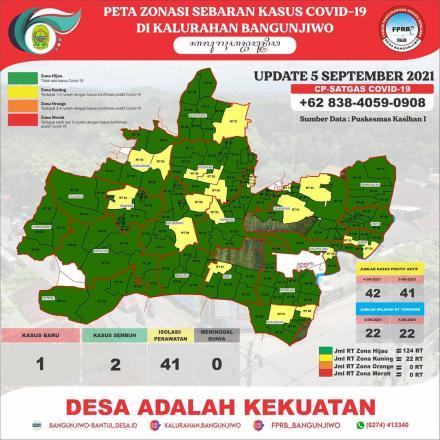 Update Peta Zonasi Sebaran Covid19 tanggal 05 September 2021