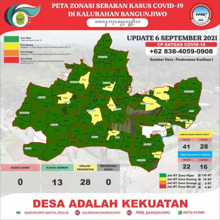 Update Peta Zonasi Sebaran Covid19  Tanggal 6 September 2021
