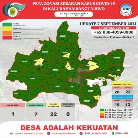 Update Peta Zonasi Sebaran Covid19 tanggal 07 September 2021
