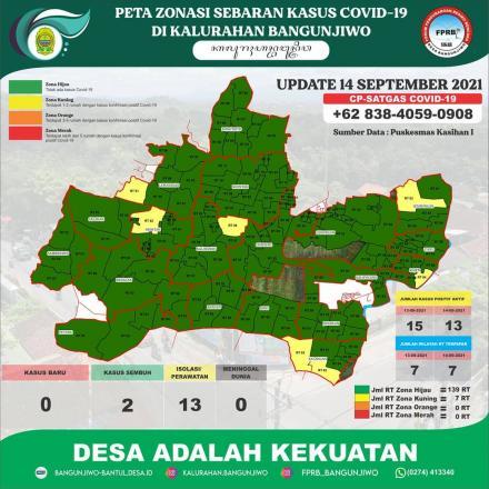 Update Peta Zonasi Sebaran Covid19 tanggal 14 September 2021