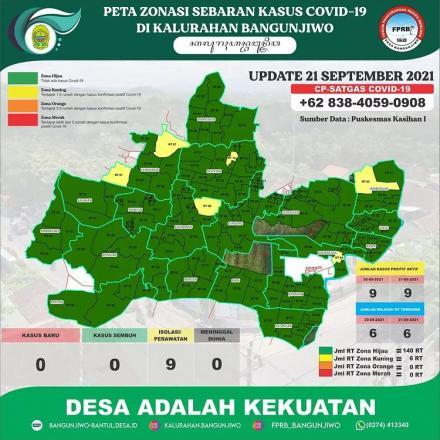 Update Peta Zonasi Sebaran Covid19 tanggal 21 Agustus 2021