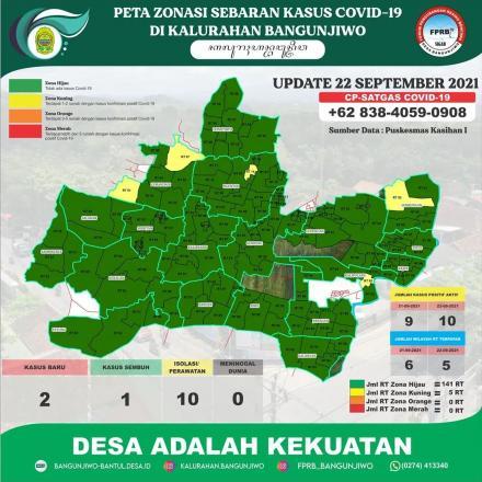 Update Peta Zonasi Sebaran Covid19 tanggal 22 Agustus 2021
