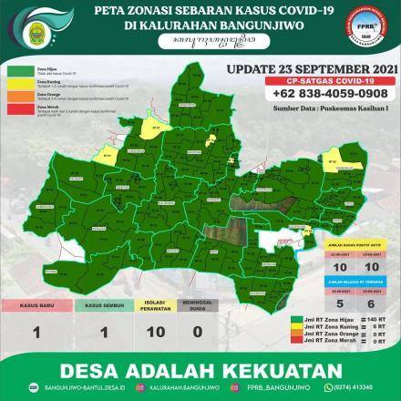 Update Peta Zonasi Sebaran Covid19 tanggal 23 September 2021