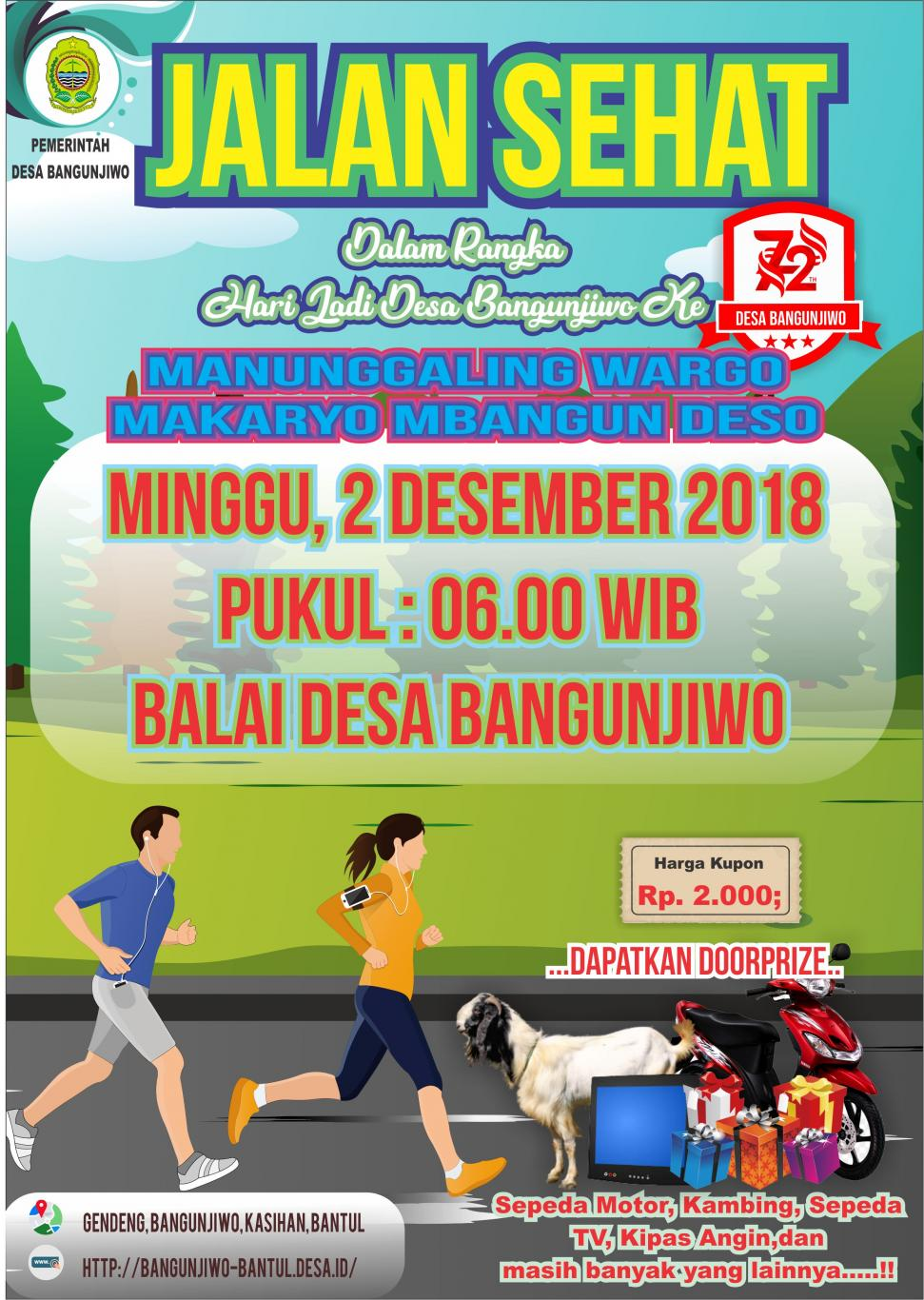 Daftar Segera Jalan Sehat Desa Bangunjiwo Website Desa Bangunjiwo